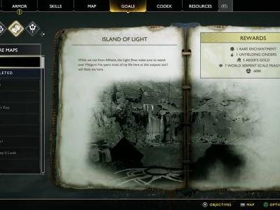 Island of Light Treasure Map Location and Solution - God of War
