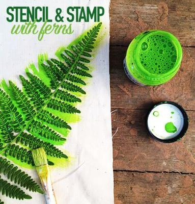 Stencil and stamp with ferns