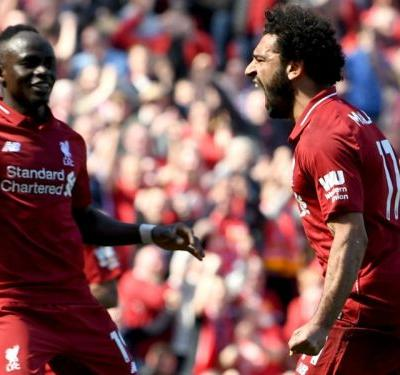Liverpool 4 Brighton and Hove Albion 0: Salah sets record as Klopp's side secure fourth