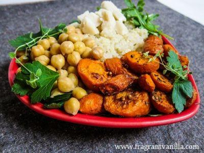 Roasted Carrot and Chickpea Quinoa Bowl