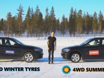 Here's Proof That 4WD Is Useless On Snow Compared To Winter Tyres