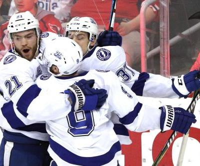 Lightning even series with Capitals