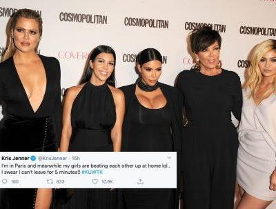 What Does The Kardashian Family Think Of Kim & Kourtney's Fist Fight? They Got Real On Twitter