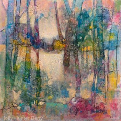 """Contemporary Landscape, Tree Painting, Mixed Media, """"Headed for Home"""", By Passionate Purposeful Painter Holly Hunter Berry"""