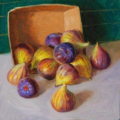 Figs original oil painting a day