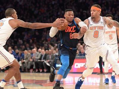 Knicks shut out Anthony in second half, beat Thunder