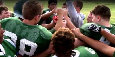 'I can hit as hard as them': Girl plays running back on football team