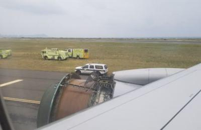 United Airlines jet makes emergency landing in Honolulu after engine blows out