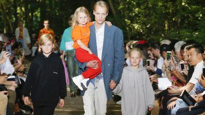 Balenciaga's Spring 2018 Menswear Collection Was All About Dads - and Debuted Childrenswear