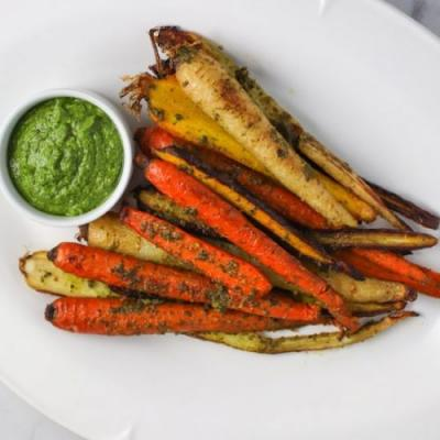 Pistachio Herb Pesto Roasted Carrot