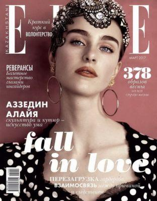 Hedvig Palm in Dolce&Gabbana on the cover of Elle Kazakhstan