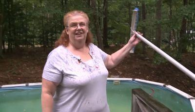 Facebook group comes to aid of woman stranded in swimming pool
