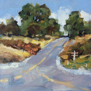 LANDSCAPE OIL PAINTING by TOM BROWN