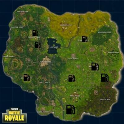 Fortnite: all Gas Station locations