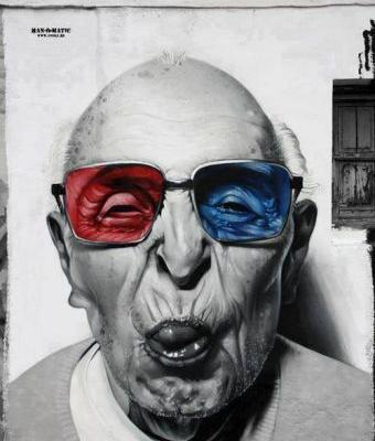 Crossconnectmag: Street art portraits by Manomatic  His bio