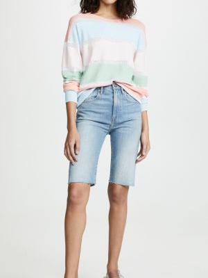 Knee-Length Denim Shorts Are the New Bike Short