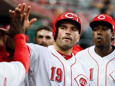 Votto hits 2-run double on birthday to help beat Dodgers 5-0