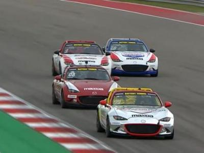 You Really Need to Watch the Mazda MX5 Cup Race Finish From COTA