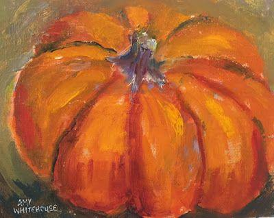 """Contemporary Still Life Paintings, """"Pumpkin Pie,"""" by Amy Whitehouse"""