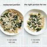 Want to Lose Weight and Still Eat Out? These Comparison Photos Show You How