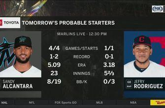 Sandy Alcántara looks to lead Marlins to first series sweep of season vs. Cleveland