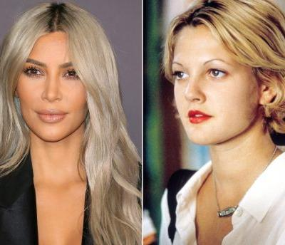 """Kim Kardashian's """"Horrendous"""" Beauty Regret Was Inspired by Drew Barrymore and the '90s"""