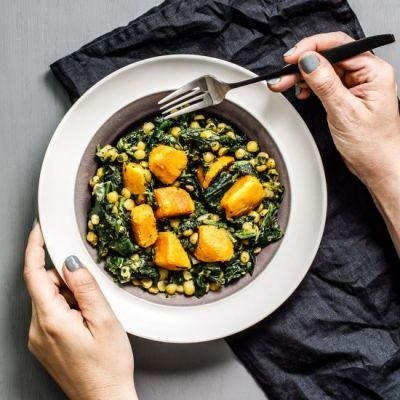 Spinach-Sweet Potato Curry
