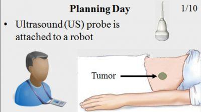 System Integration and In Vivo Testing of a Robot for Ultrasound Guidance and Monitoring During Radiotherapy