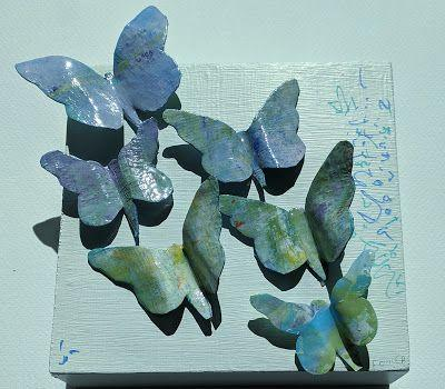"""Butterfly Paper, Resin Sculpture, Collage, Painting, """"RESIN BUTTERFLY SCULPTURE"""
