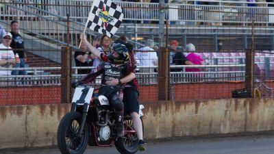 American Flat Track Springfield TT: Bryan Smith Stays Perfect On the Miles