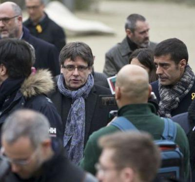 Fugitive ex-Catalan leader Carles Puigdemont is detained by police in Germany