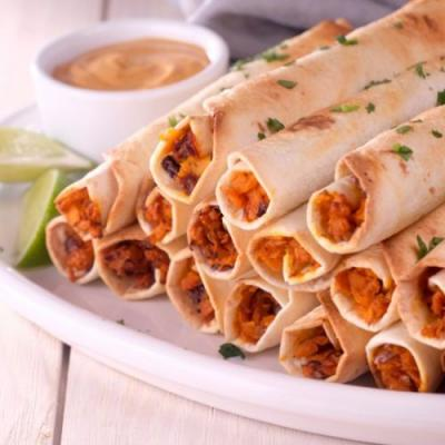 Chipotle Sweet Potato Taquitos