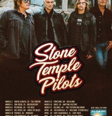 STONE TEMPLE PILOTS Announce First U.S. Tour With New Singer JEFF GUTT