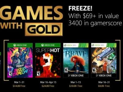 SuperHot Headlines Xbox Live Games with Gold for March