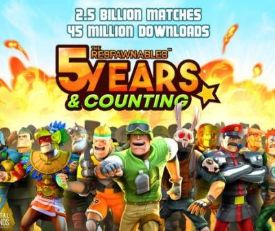The Respawnables mobile game hits 45 million downloads and 2.5 billion matches in 5 years