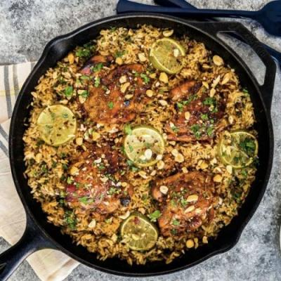 One Pot Easy Thai Chicken with Rice