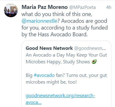 Industry-funded study of the week: avocados again and again