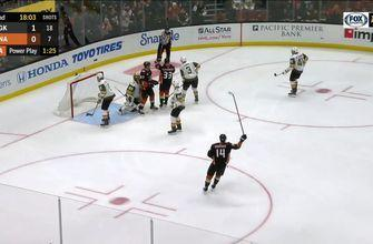 HIGHLIGHTS: Sprong & Rowney score, but Ducks fall 3-2 to Golden Knights