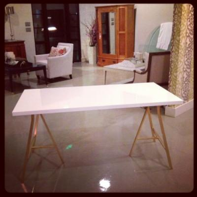 20 Fresh White and Gold Desk Pictures