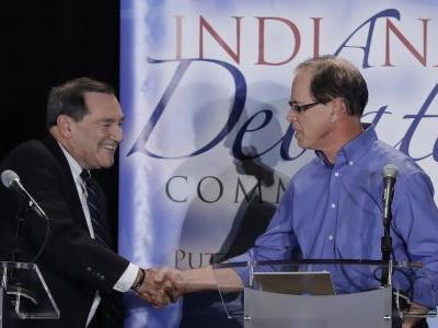Democrat Donnelly cites support for Trump in Indiana debate