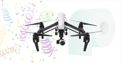 Beware: Camera Drones Are Weak Against Confetti and Toilet Paper