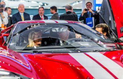 Here's Joe Biden Hanging Out In A Ford GT And A Dodge Challenger
