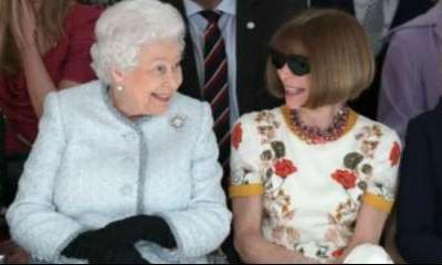 Stylish Queen Elizabeth II makes first visit to London Fashion Week