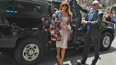 Melania Trump's pricey jacket draws attention in Sicily