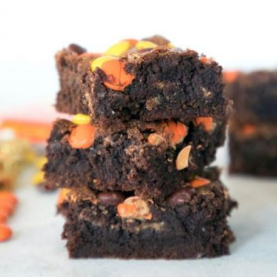 Reese's Pieces PB Brownies