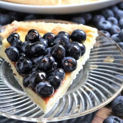Blueberries and Cream Galette