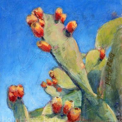 """Cactus, Still Life Painting, Fine Art For Sale, """"Don't Stop Reaching"""" By Passionate Purposeful Painter Holly Hunter Berry"""