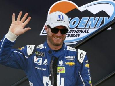 Even Dale Earnhardt Jr. Skids and Rams Tree In Snow Storm