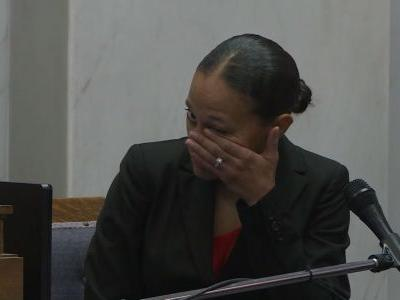 Former OPD officer appears emotional watching cruiser video play out in court