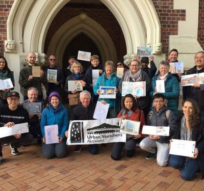 Urban Sketchers freeze at the High Court